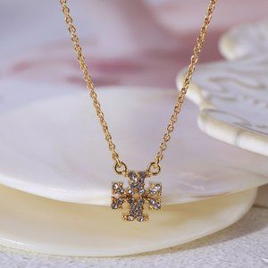 Tory Burch Gold Kira Pave Delicate Necklace
